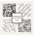 Set of four abstract seamless patterns vector image vector image