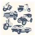 Set of Retro Transport vector image vector image
