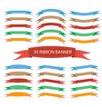 Set of ribbon banner vector image vector image