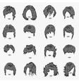set of women hairstyles vector image