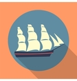 Ship icon in a flat design vector image vector image
