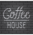 slogan brick wall dark coffee house vector image vector image