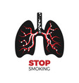 stop smoking concpet vector image vector image