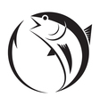symbol tuna and hook vector image vector image