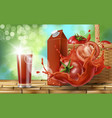 tomato juice ad vector image vector image