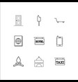 Travel and tourism outline icons set