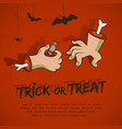 trick or treat cartoon style vector image