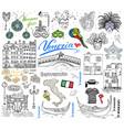 venice italy sketch elements hand drawn set vector image vector image
