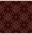 vintage endless pattern burgundy background vector image vector image