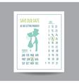 wedding invitation card - save date vector image