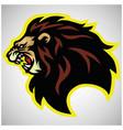 wild lion head roaring logo mascot vector image vector image