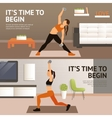 Woman Home Workout vector image