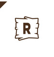 wooden alphabet or font blocks with letter r in vector image vector image