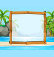 wooden frame with ocean in background vector image vector image