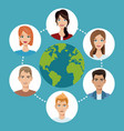 worldwide people communication social media vector image vector image