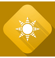 icon of Sun with a long shadow vector image