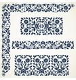 Set of floral elements for design vector image