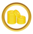 Stack of gold coins icon vector image