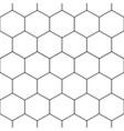 black honeycomb hexagon seamless on white vector image
