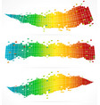 3 abstract colorful backgrounds vector image