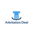 arbitrators deal logo concept designs template vector image vector image