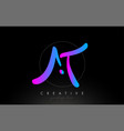 at artistic brush letter logo handwritten in vector image vector image