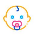bachild head icon outline vector image vector image