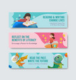 banner template with international literacy day vector image vector image