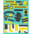 banners bookmarks badges vector image