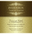Baroque invitation gold and brown vector image vector image