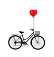 bicycle with heart vector image vector image