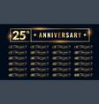 bif set anniversary labels and emblems vector image