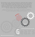 business and industry concept gears infographic vector image