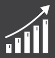 business growth solid icon business and financial vector image vector image