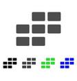 calendar rectangle grid flat icon vector image vector image
