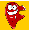 cartoon character cheerful red drop vector image vector image