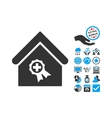 Certified Clinic Building Flat Icon With vector image