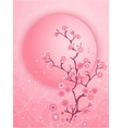 Cherry blossom motif Nature template vector image