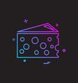 chesse icon design vector image