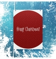 christmas poster template with snowflakes vector image vector image