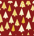 christmas tree silhouettes seamless pattern vector image