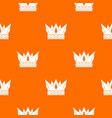 cog crown pattern seamless vector image vector image