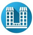 Company Building Gradient Round Icon vector image vector image