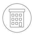 Condominium building line icon vector image vector image