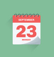 day calendar with date september 23 vector image vector image