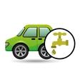 eco car icon environment water vector image vector image