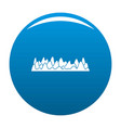 equalizer sound vibration icon blue vector image vector image