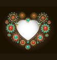 ethnic frame in shape heart vector image