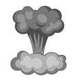 explosion of nuclear bomb icon monochrome vector image vector image