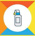 face foundation icon colored line symbol premium vector image